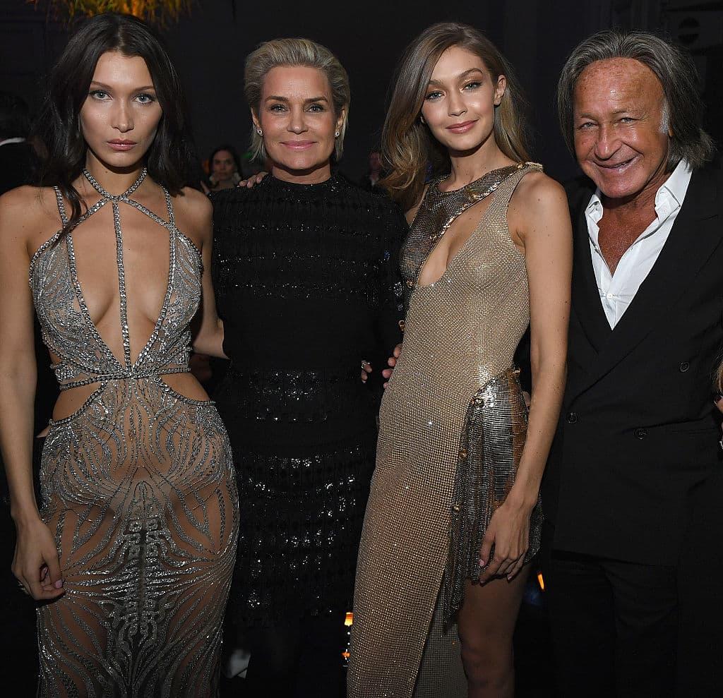 Bella Hadid, Yolanda Foster, Gigi Hadid und Mohamed Hadid