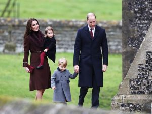 Herzogin Kate, Prinzessin Charlotte, Prinz George und Prinz William