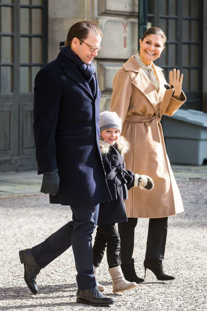 Prinz Daniel, Estelle und Prinzessin Victoria von Schweden